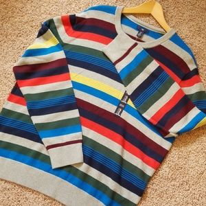 NWT. Men's Striped Sweater